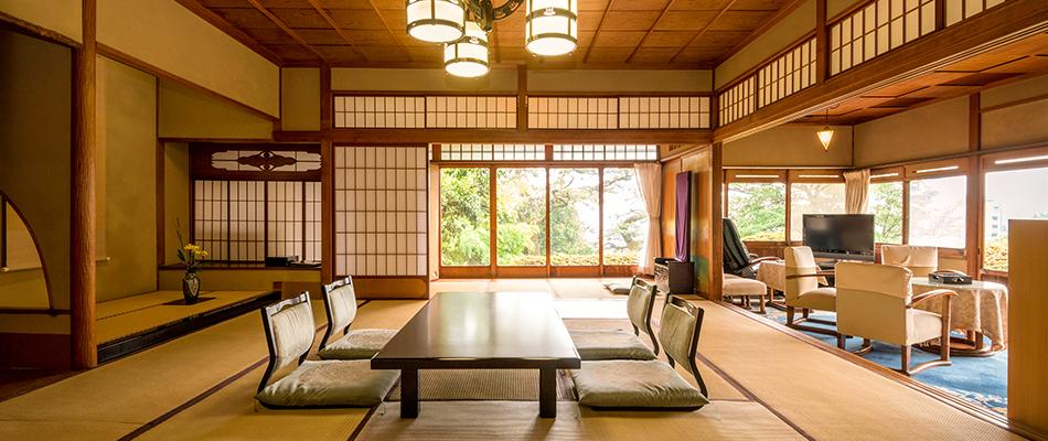 純京風数寄屋造りの客室